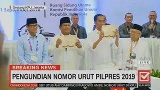 Video Jokowi-Ma'ruf No.1, Prabowo-Sandi No.2 | Penetapan Nomor Urut Pilpres 2019 MP3, 3GP, MP4, WEBM, AVI, FLV Desember 2018