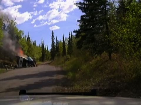 Raw: Alaska Man Rescued from Beneath Burning SUV