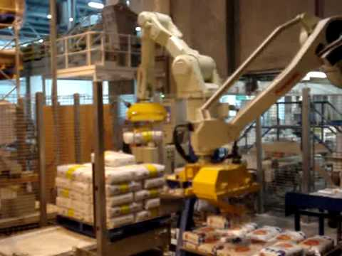 Palletise bags of flours with JMP's robotic palletisers