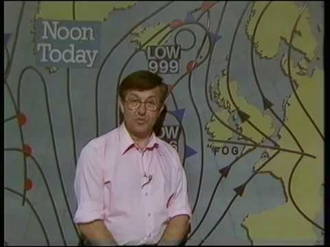 BBC Weather Forecast - Bill Giles - July 1984