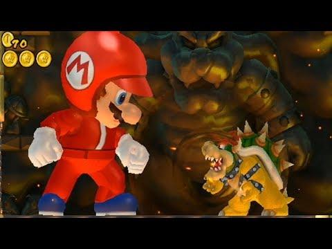 New Super Mario Bros Wii - Giant Mario Hack (видео)