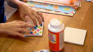 HOW TO: DIY Tile Coasters - YouTube