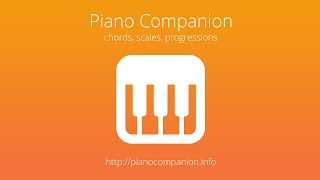 Piano Chord, Scale Companion YouTube video