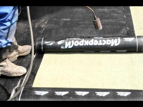Как покрыть крышу изолом