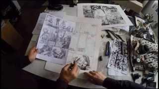 Video Visite d'Atelier : faites la connaissance du grand dessinateur de bande dessinée Aouamri ? MP3, 3GP, MP4, WEBM, AVI, FLV Agustus 2017