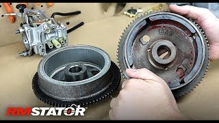 2. Polaris 500cc ATVs Improved Heavy Duty Magneto Stator Flywheel OEM # 3085558 3086819 3086983 RM11512