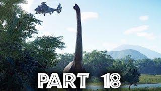 Jurassic World Evolution Gameplay Walkthrough Part 18 - BIGGEST DINOSAUR IN THE GAME