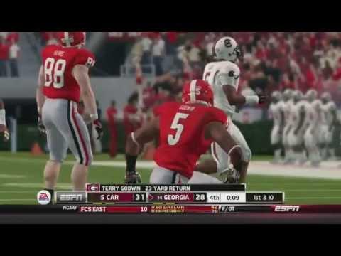 NCAA FOOTBALL 14: Georgia Bulldogs dynasty episode 3: Georgia vs South Carolina