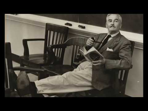William Faulkner reads from As I Lay Dying