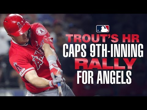 Video: Trout's mammoth home run in the 8th