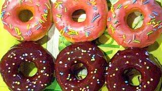 Американские пончики Donuts с глазурью