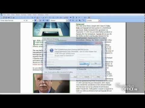 Video 1 de WordPerfect: Eliminar metadata de archivos de WordPerfect (en inglés)