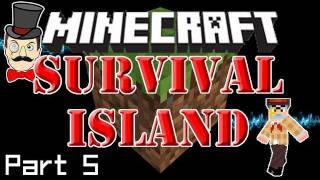 Minecraft: SURVIVAL ISLAND - Sentry on Guard, Building at Night&Message in a Bottle! (Part 5)