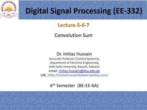 Lecture 5 6  7 Convolution Sum