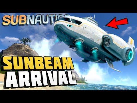 Subnautica - THE SUNBEAM IS LANDING! - Sunbeam Rescue Ship Event - Let's Play Subnautica Gameplay (видео)