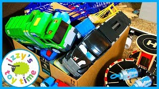 DONATING AND ORGANIZING! Thomas and Friends and Toy Cars for Kids with Izzy's Toy Time!