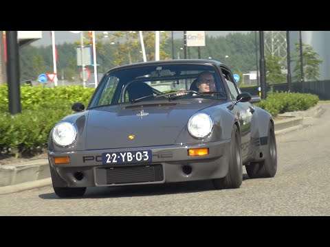 custom built porsche 911 rsr - start, revs, accelerations!
