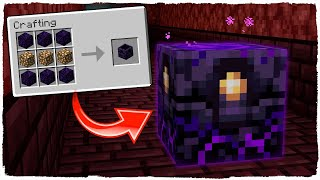 RESPAWN ANCHOR (CÓMO REVIVIR EN EL NETHER) - MINECRAFT 1.16 - NETHER UPDATE (SNAPSHOT 20W12A)