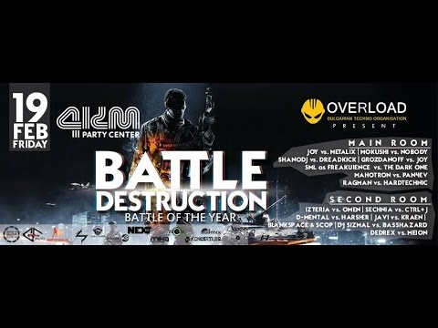 Overload Pres. Battle Destruction 19.02.2016 ShanoDJ Vs. Dreadkick @ Party Center 4km Sofia BG Pt27