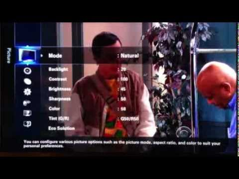 Samsung HDTV picture calibration.
