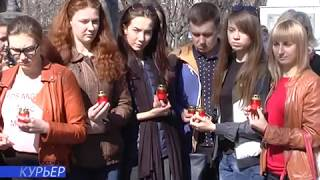 Молодежная акция в память погибших при теракте в метро «Санкт-Петербурга»