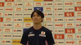田中佑典選手 強化合宿後記者会見