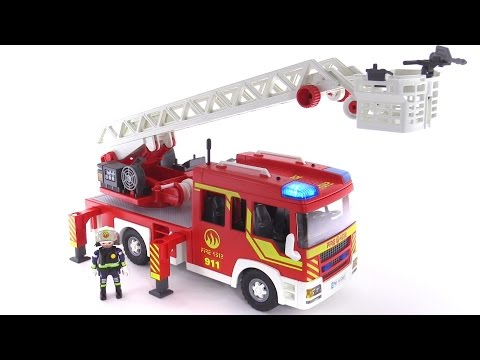 Playmobil Fire Ladder Unit W/ Lights & Sounds Reviewed! 5362
