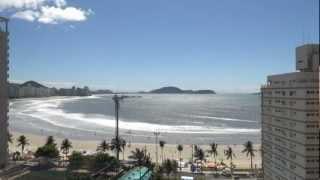 Praia das Asturias em timelapse, Guarujá - SP