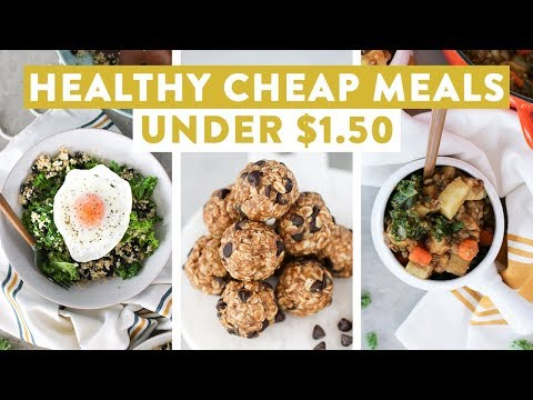 Nutrition - Healthy Cheap Meals Under $1.50  EASY Budget Friendly Meal Ideas