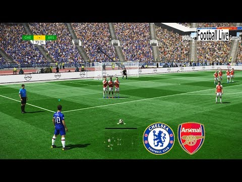 PES 2019 | Chelsea Vs Arsenal | E.Hazard Free Kick Goal | Gameplay PC