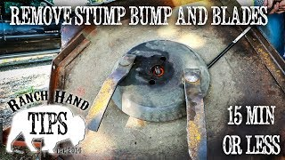 4. Brush Hog Rotary Mower Stump Bump and Blade Removal - Ranch Hand Tips