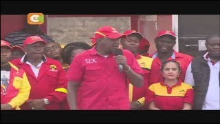 Rais Uhuru Kenyatta na naibu wake William Ruto wamemhimiza mgombea huru wa ugavana kaunti ya Nairobi Peter Kenneth...