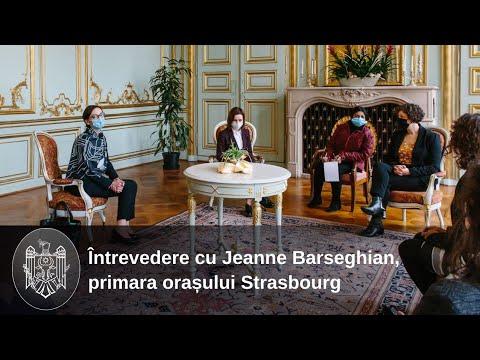 Președintele Maia Sandu a discutat cu primara orașului Strasbourg, Jeanne Barseghian