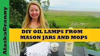 How to Make Oil Lamps From Mason Jars and a Cotton Mop Head http://amzn.to/2uAWAs2 and canning jar  http://amzn.to/2trw2e9Make a hole through a jar lid, add a cotton mop string for a wick, fill with lamp oil and you have a DIY oil lamp you made yourself.  With one mop head, and a few jars, you have an endless supply of oil lamps when you add lamp oil, citronella oil, or olive oil.  Be ready for any long term power outage emergency with DIY oil lamps.   ★☆★ SUBSCRIBE TO ME ON YOUTUBE: ★☆★https://www.youtube.com/c/alaskagranny?sub_confirmation=1 ★☆★ FOLLOW ME BELOW: ★☆★Blog: http://www.alaskagranny.com/everyday-preps/★☆★ RECOMMENDED RESOURCES: ★☆★Cotton Mop Head  http://amzn.to/2uAWAs2Wide Mouth Jars  http://amzn.to/2trw2e9