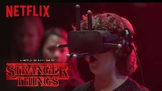 Stranger Things | Cast Reacts: Virtual Reality [HD] | Netflix