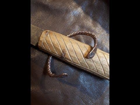 twisted copper viking bracelet, making of, DIY