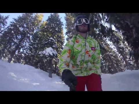 Skiing Brighton, Utah 180 Fail