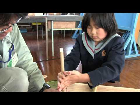 種子島の学校活動:安納小学校出前授業木工製作体験