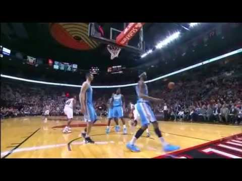 Elliot Williams beautiful put-back dunk over the Nuggets
