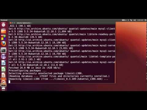 comment demarrer mysql sous ubuntu