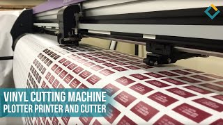 Vinyl Cutting machine. Plotter Printer and Cutter