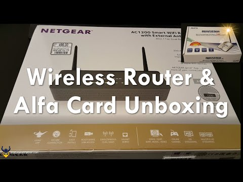 Wireless Router & Alfa Card Unboxing - WiFi Hacking Series #1
