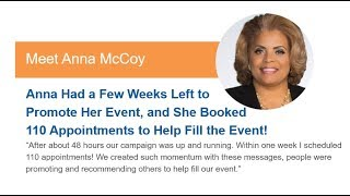 How to Double Your Leads and Appointments - Testimonial from Anna McCoy