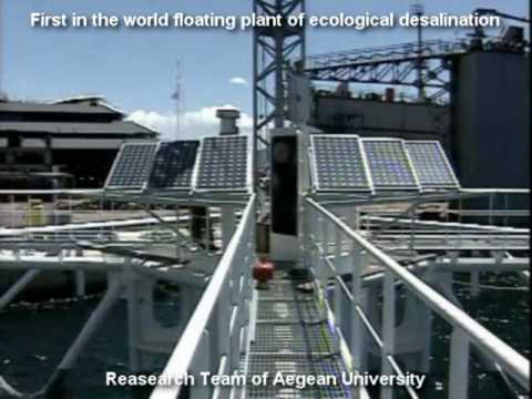 First in the world floating plant of ecological desalination