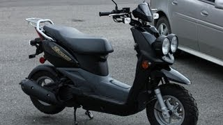 7. 2012 Yamaha Zuma 50F Scooter/ Moped Walk Around / Review