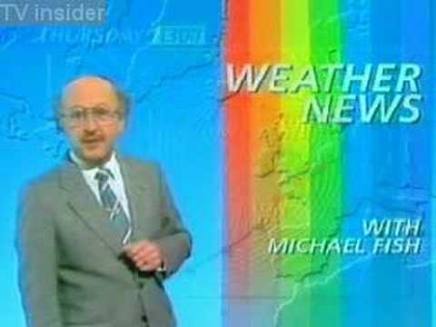BBC weather blooper by Michael Fish storm of 1987