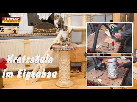Kratzsäule für Katzen selber bauen