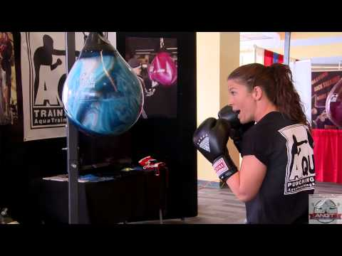 Amanda O'Neil demonstrates the correct way to throw a jab