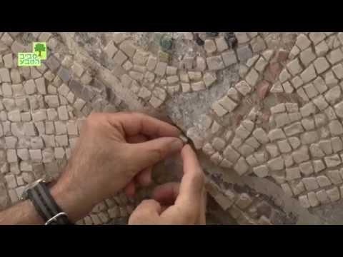 שחזור פסיפסים במוזיאון ישראל