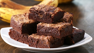 Peanut Butter Banana Brownies by Tasty